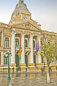 The Palace of the National Congress on Plaza Murillo.