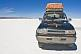 Image of Toyota Land Cruiser on the Uyuni Salt Flats.