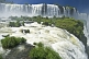 Waterfalls cascade into the Iguazu River.