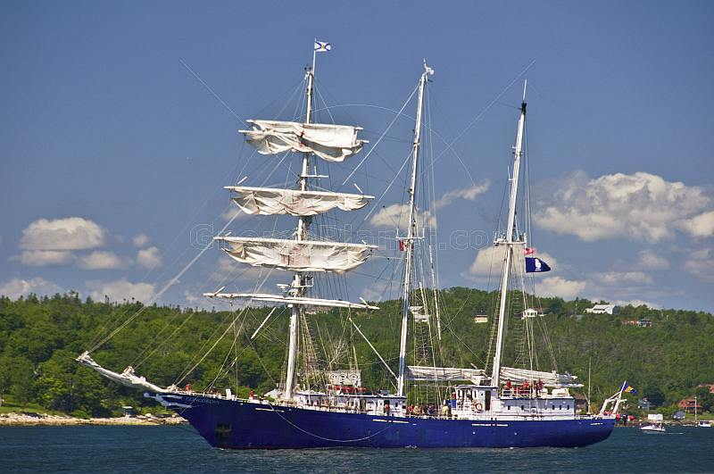 Sail training ship 'Concordia' leaving the port of Halifax.