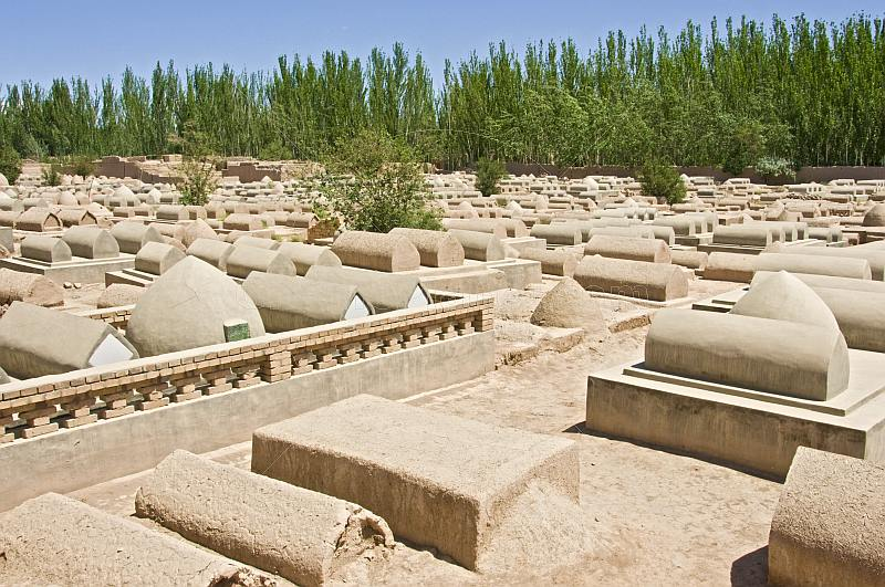 Muslim cemetery at Abakh Hoja Tomb.