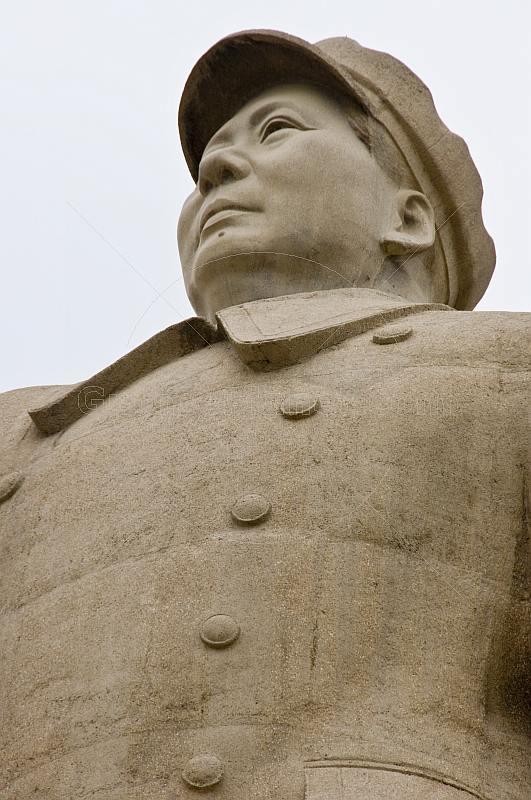 Statue of Chairman Mao Tsedong next to Renmin Park.