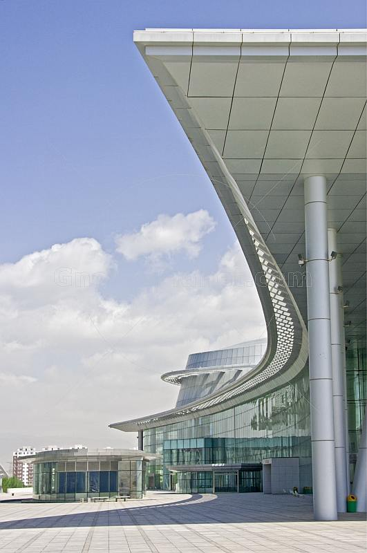 Modern architectural lines of the Inner Mongolia Museum.