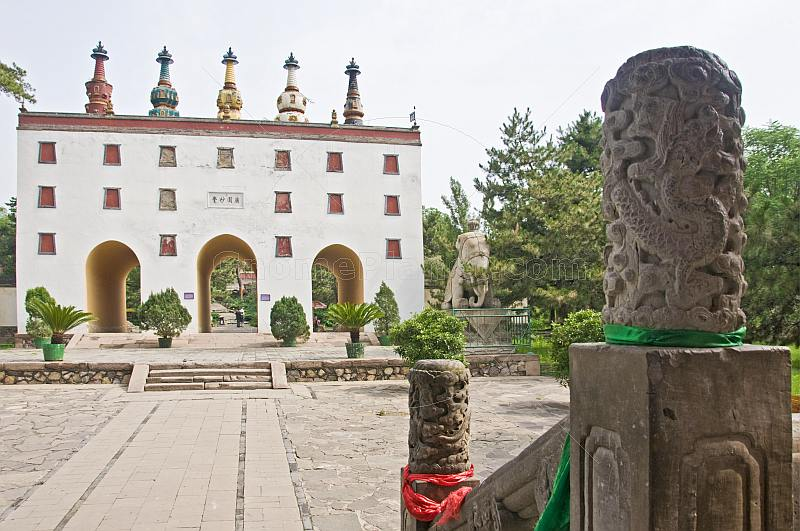 Second gateway with stupas at the Putuozongcheng Buddhist Temple.