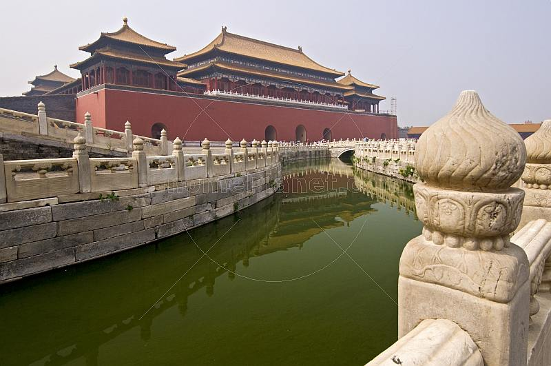 The Meridian Gate is the southern entrance to the Forbidden City.