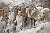 Terracotta warriors and horses in pit number 1.