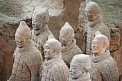 Terracotta warriors include some original colored paintwork.