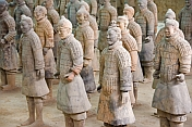 Terracotta warriors include some original colors.