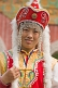 Chinese girl wearing imitation Emperor\\'s court clothing.