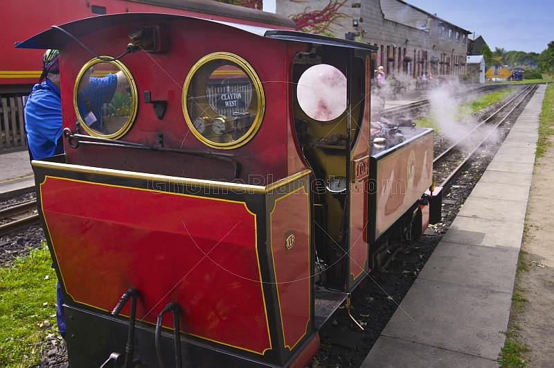 Steam locomotive Fox at Kirklees Light Railway at Clayton West.
