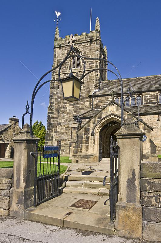 All Saints Parish Church built in Victorian era on A65 Leeds Road.