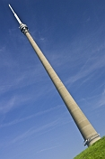 Emley Moor TV transmission tower is 330m 1080 feet high.