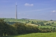 The 330m 1080 feet high Emley Moor TV transmission tower dominates surrounding countryside.