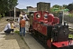Image of Family look at steam engine Fox at Kirklees Light Railway at Clayton West.