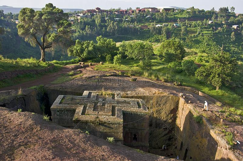St. Georges Rock-Cut Church at  Lalibela in Ethiopia